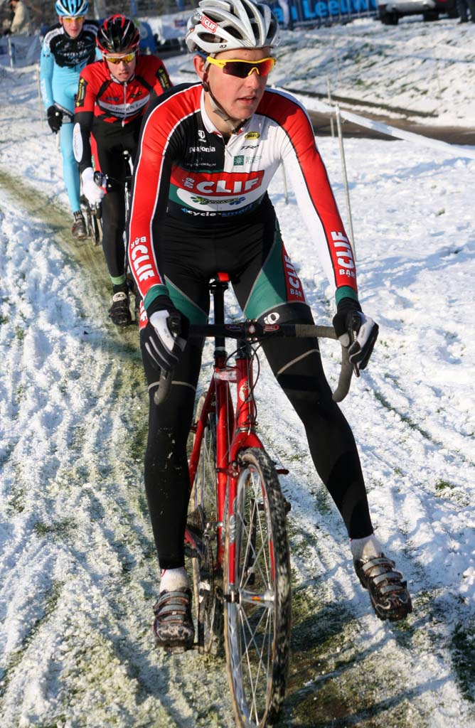 Yannick Eckmann continued his strong of strong finishes with a seventh in Sint Michielsgestel. ? Bart Hazen