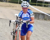 Katerina Nash scampers ahead through the sand. ©Janet Hill