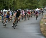 Ryan Trebon leads the men's field into turn 1. © Kenton Berg