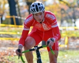 A Philadelphia Cyclocross School rider navigates the course. © Ethan Glading