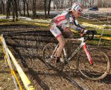 Shannon Gibson of Stan;s Notubes on her way to the win in the Womens 45-49 race. ©Steve Anderson