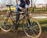 Many riders had to stop to clean mud away from wheels in the afternoon races. ©Steve Anderson