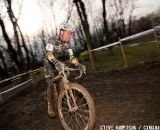 Eric Anderson of Nuvo/Cultural Trail makes easy work of the icy ruts in the 35-39 race ©Steve Anderson