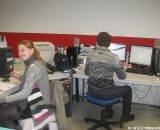 Even some people at Ridley have boring desk jobs, then again it doesn't seem like this one counts as boring © Sue Butler
