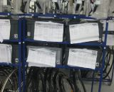 assembly is organized. 4 bikes per cart. all pieced pulled and put on cart © Sue Butler