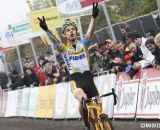 Wout van Aert takes his second win of the weekend at Superprestige Gavere 2013. © Bart Hazen / Cyclocross Magazine