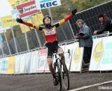 Sanne Cant wins Superprestige Gavere 2013. © Bart Hazen / Cyclocross Magazine