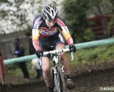 Sanne Cant on her way to the win at Superprestige Gavere 2013. © Bart Hazen / Cyclocross Magazine