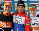 Elite women's Gieten podium  © Bart Hazen