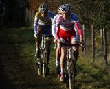 Klaas Vantornout leads Stybar and Peeters in the early laps. © Bart Hazen