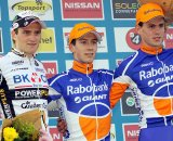 The U23 podium in Zonhoven. © Bart Hazen