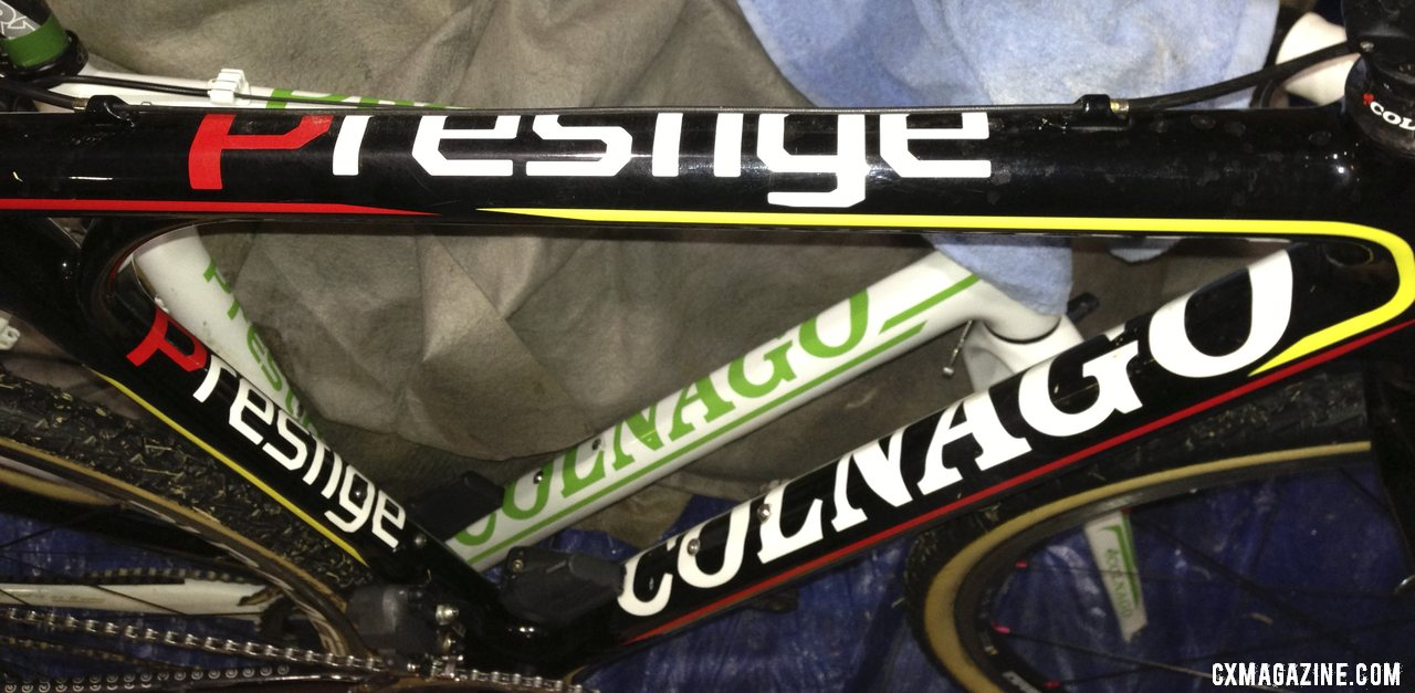 Bold branding leaves no doubt what model this.  © Cyclocross Magazine