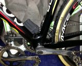 Internal wiring for Di2 on Sven Nys' 2013 World Championship-winning Colnago Cross Prestige.  © Cyclocross Magazine