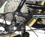 An Ultegra-level cassette with custom 28t cog was one unique item on Sven Nys' 2013 World Championship-winning Colnago Cross Prestige.  © Cyclocross Magazine