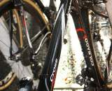 Because of his electronic shifting, only the brake cable is routed along the top tube. ? Dan Seaton