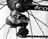Dura-Ace 9070 Di2 shifts an 11-25 cassette. Sven Nys' winning-Colnago Prestige, Cross Vegas 2013. © Cyclocross Magazine