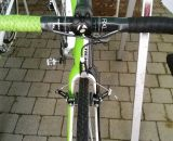 Sven Nys' new Trek Boone features an IsoSpeed carbon cyclocross fork with decent mud clearance. © Cyclocross Magazine