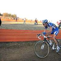 niels albert on his first lap completely free of other riders