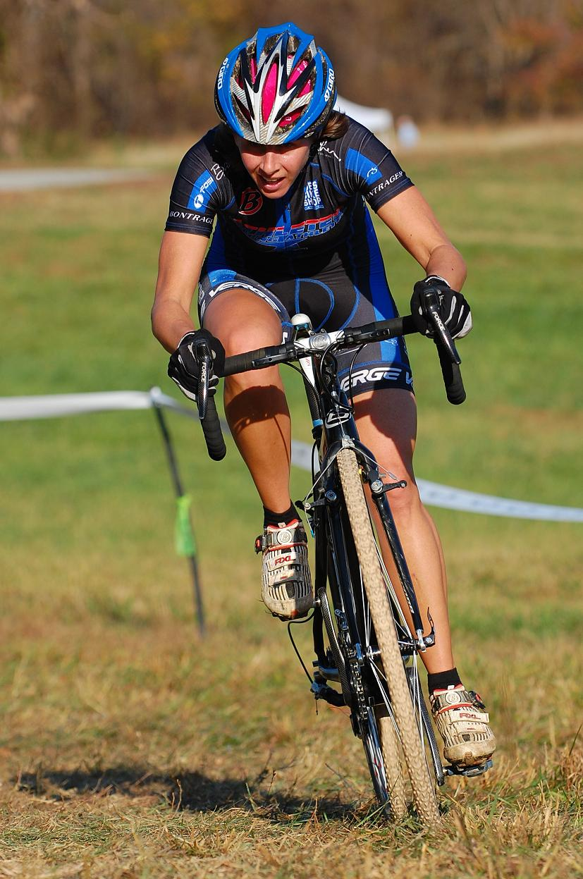 Deidre Winfield solos to victory at the Tacchino CX. ? Tom Olesnevich