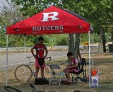 The Rutgers tent is a common site at Mid-Atlantic races. © Jamie Mack