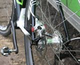 The Avid BB7's mounted on Tim Johnson's prototype Cannondale Super X. ©Cyclocross Magazine