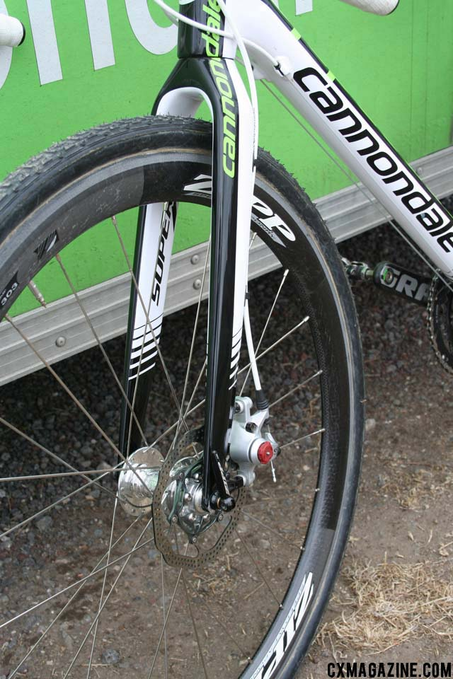 Traditional Zipp 303\'s, built around disc-compatible hubs. ©Cyclocross Magazine