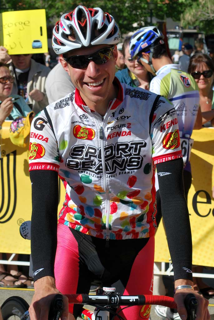 Jeremy Powers is all smiles at Tour of California. Via flickr by smthcriminal29