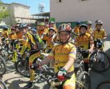 Local cycling club escorting the ride © Joseph Spyrides