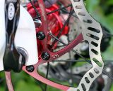 The TRP Brakes Parabox hydraulic disc brake system prototype uses 160mm rotors, but the final product may feature 140mm rotors. © Cyclocross Magazine