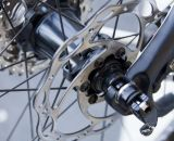 TRP Brakes' Spyre Mechanical Disc Brake comes with 140mm or 160mm Tektro Lyra rotors. © Cyclocross Magazine