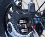 A barrel adjuster allows for easy adjustments to accomodate pad wear on the TRP Brakes' Spyre Mechanical Disc Brake. © Cyclocross Magazine
