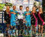 The podium, L to R: Nys, Stybar, Pauwels at the UCI World Championships of Cyclocross. © Thomas Van Bracht