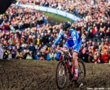 Stybar passes Mourey at the UCI World Championships of Cyclocross. © Thomas Van Bracht