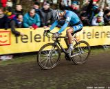 Nys, head down, focusing at the UCI World Championships of Cyclocross. © Thomas Van Bracht