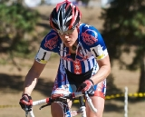 Compton was a blur of stars, bars and speed on her way to victory © Jeffrey Jakucyk