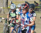 Katie Compton started relatively slowly in the middle of the lead group © 2010 Jeffrey B. Jakucyk