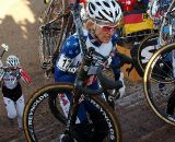 Sue Butler before a hard crash took her out of the race