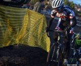Kabush hits the ride-up full bore. © Cyclocross Magazine