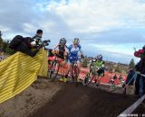 The women hit the ride/run-up. © Cyclocross Magazine