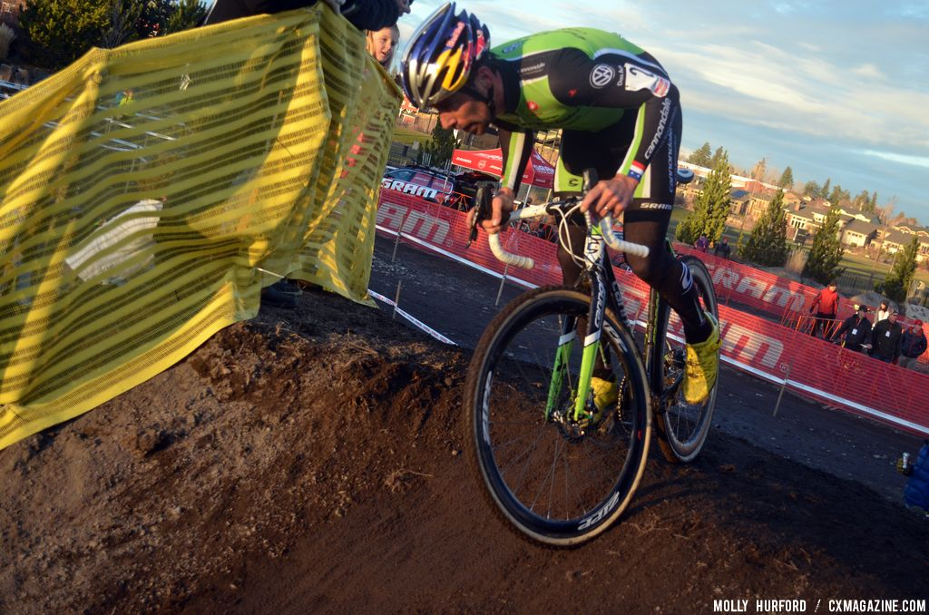 Johnson snagged the lead and never looked back. © Cyclocross Magazine