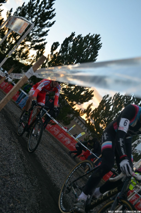 Rapha and Cal-Giant work to stay in the lead group. © Cyclocross Magazine