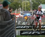 Shannon Gibson (Stan's No Tubes Elite Cyclocross) races over the barriers Saturday at the USGP Planet Bike Cup in Sun Prairie Wisconsin.  © Aaron Johnson