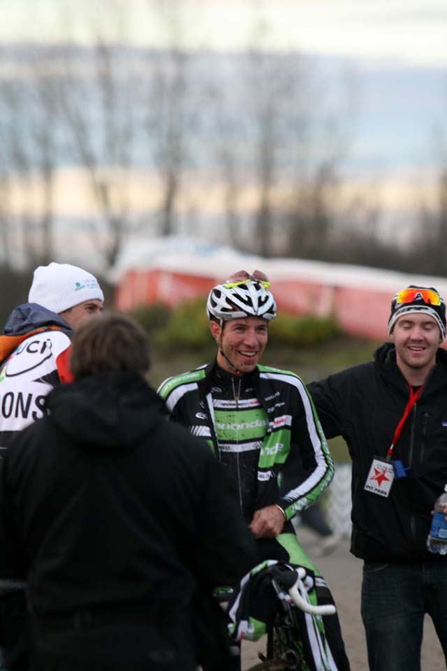 A jubilant Powers post-race © Dave Roth