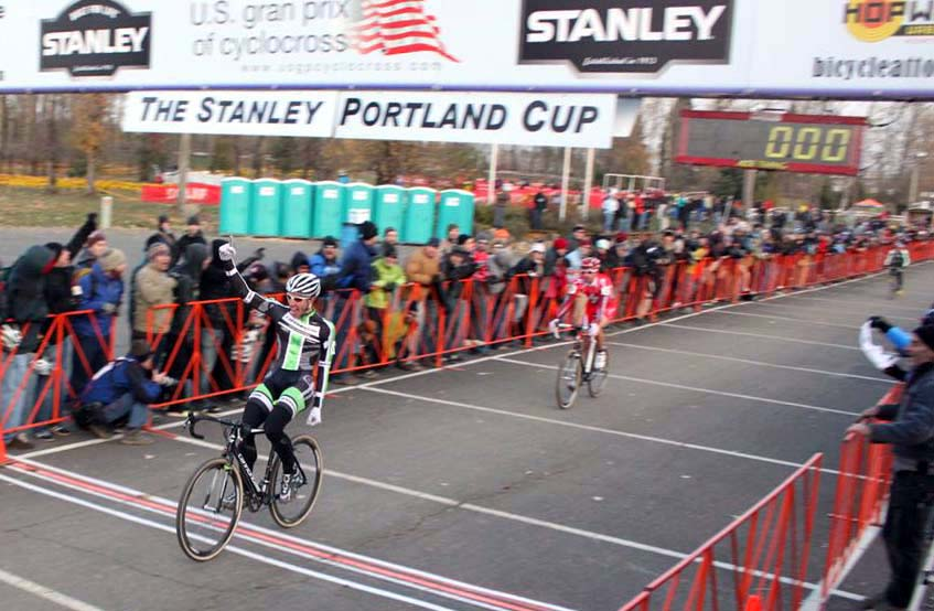 Powers take his first Portland win with a sprint finish. ? Andrew Yee