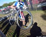 Gould in second over the barriers  © Cyclocross Magazine