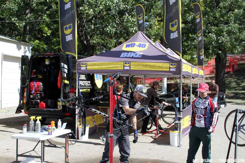 WD-40 offered free bike washes and samples from their new WD-40 Bike line, in addition to being a major sponsor of the series. © Amy Dykema