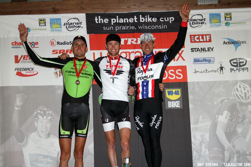 The men\'s podium. © Amy Dykema