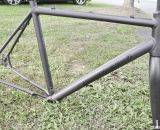 Almost looks like titanium - 2014 Van Dessel Aloominator cyclocross frame. © Cyclocross Magazine
