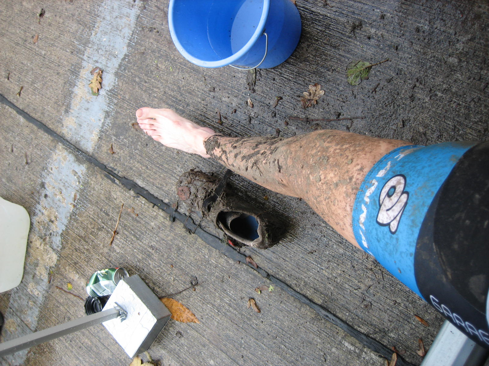 Muddy post-race legs ? Christine Vardaros