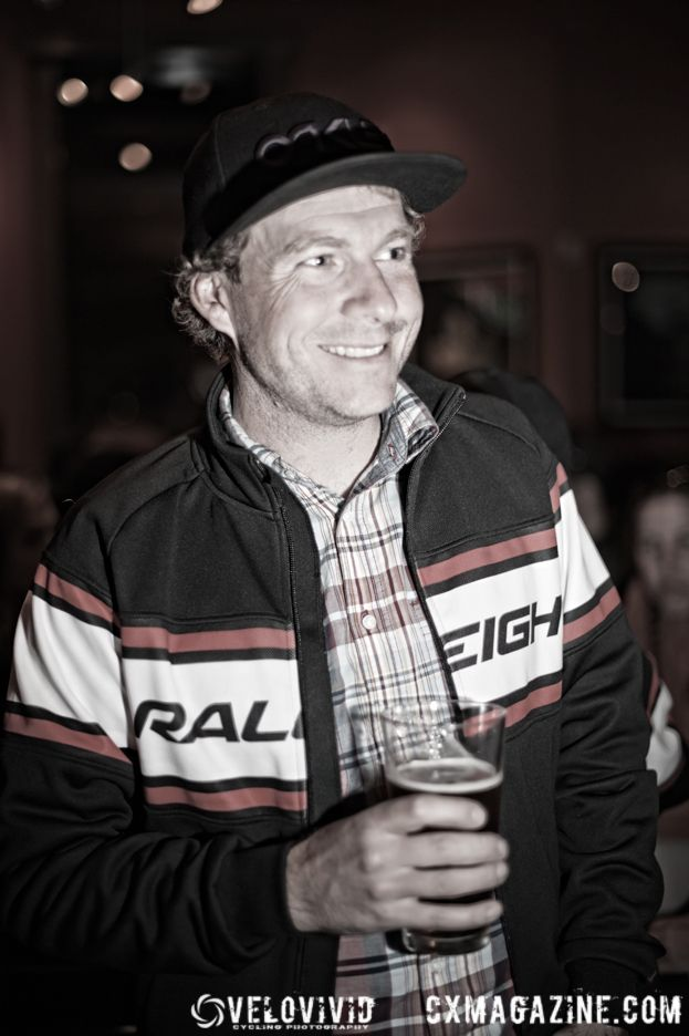 Team manager Jonny Sundt discusses the the merits of the local beverages.© VeloVivid Photography